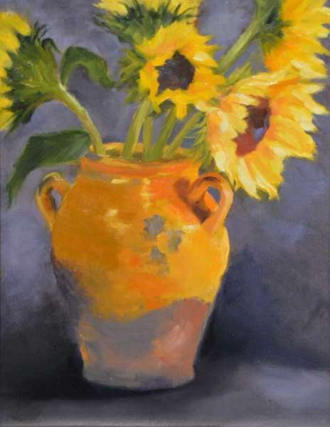 Sunflowers in Urn